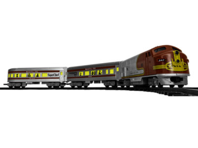 Lionel Trains Santa Fe Diesel Ready-To-Play Train Set