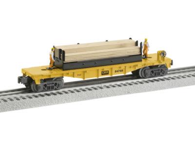 Lionel Trains Moe & Joe Lumber Flatcar