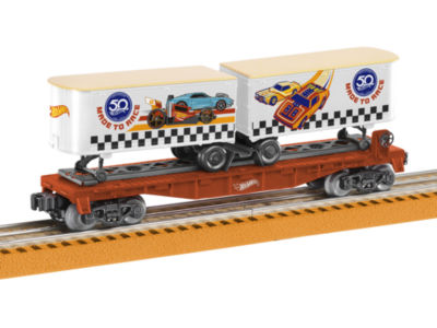 Lionel Trains Hot Wheels 50th Anniversary Flat Car with Piggybacks