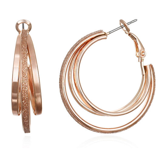 Mixit Round Hoop Earrings
