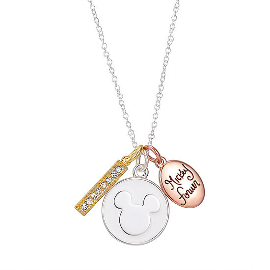 16 Inch Link Round Mickey Mouse Pendant Necklace