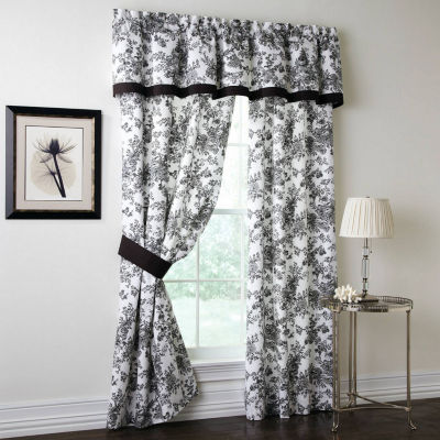 Toile Garden Rod-Pocket Set of 2 Curtain Panel