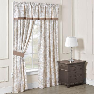 Toile Garden Rod-Pocket Set of 2 Curtain Panel