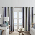JCPenney Home Sullivan Stripe Blackout Grommet-Top Single Curtain Panel