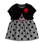 Marmellata 2-pc. Girls Sleeveless Checked A-Line Dress - Baby