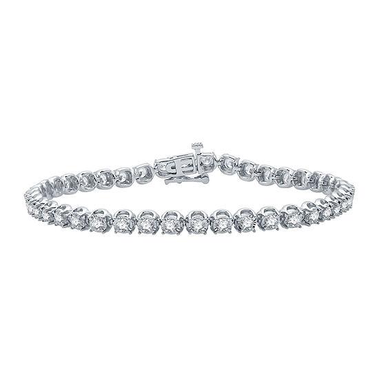 Ever Star 3 CT. T.W. Lab Grown Diamond 10K White Gold 7.5 Inch Tennis Bracelet