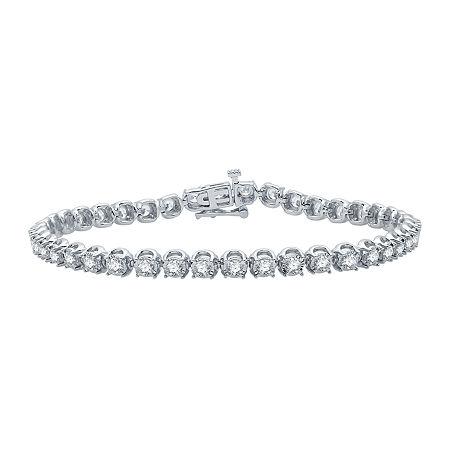 Ever Star 3 CT. T.W. Lab Grown Diamond 10K White Gold 7.5 Inch Tennis Bracelet, One Size