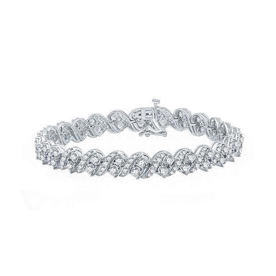 Ever Star 5 CT. T.W. Lab Grown Diamond 10K White Gold 7.5 Inch Tennis Bracelet