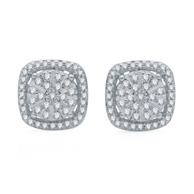 Ever Star 1/3 CT. T.W. Lab Grown Diamond Sterling Silver 9.2mm Stud Earrings