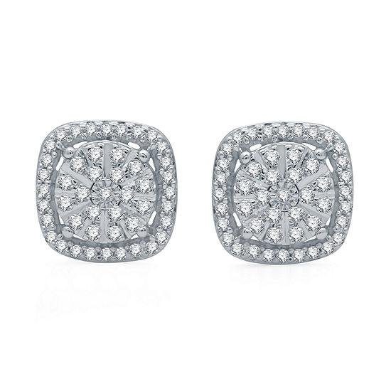 Ever Star 1/3 CT. T.W. Lab Grown Diamond Sterling Silver 9.2mm Stud Earrings
