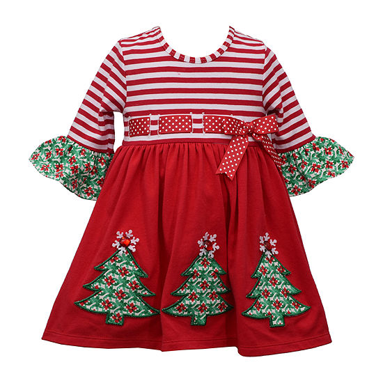 Toddler Christmas Dress.Bonnie Jean Christmas Girls 3 4 Sleeve Party Dress Toddler