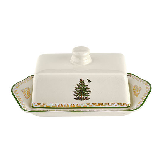 Spode Christmas Tree Butter Dish