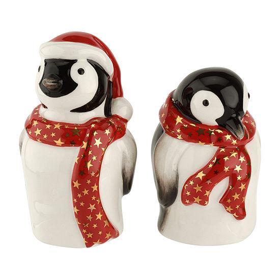 Spode Penguin Salt + Pepper Shakers