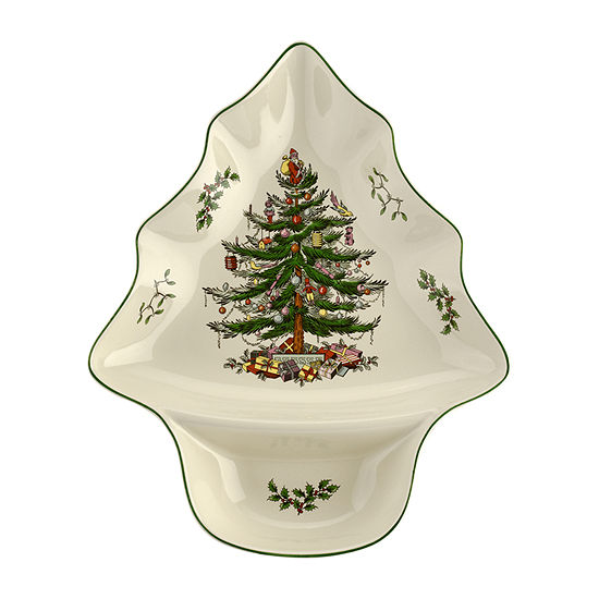 Spode Christmas Tree Divided Server