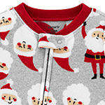 Carter's Christmas Baby Boys Fleece Long Sleeve One Piece Pajama