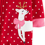 Carter's Girls Fleece One Piece Pajama Long Sleeve