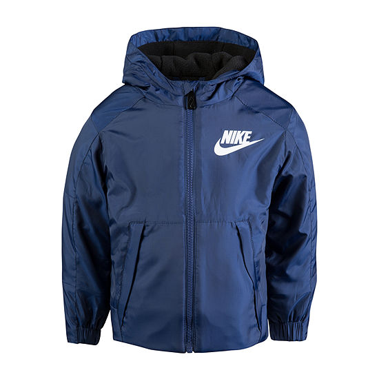 Nike Boys Water Resistant Lightweight Raincoat-Preschool