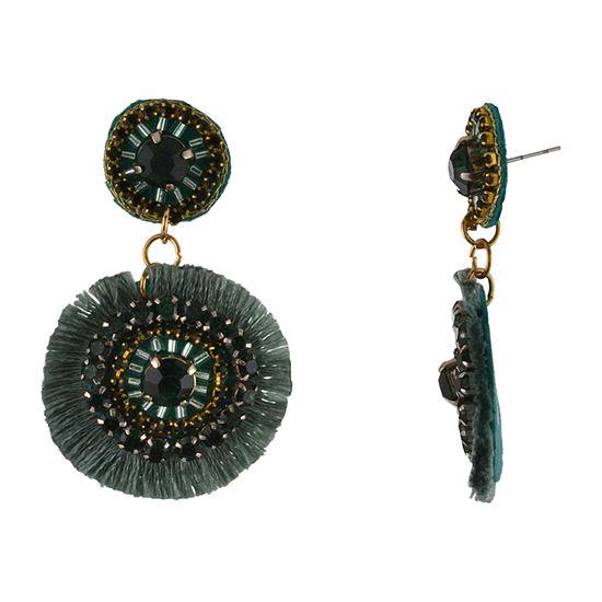Bijoux Bar Green Drop Earrings