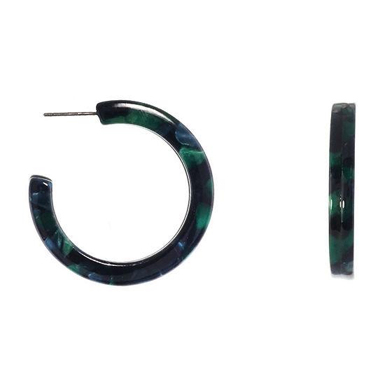 Bijoux Bar Green Hoop Earrings