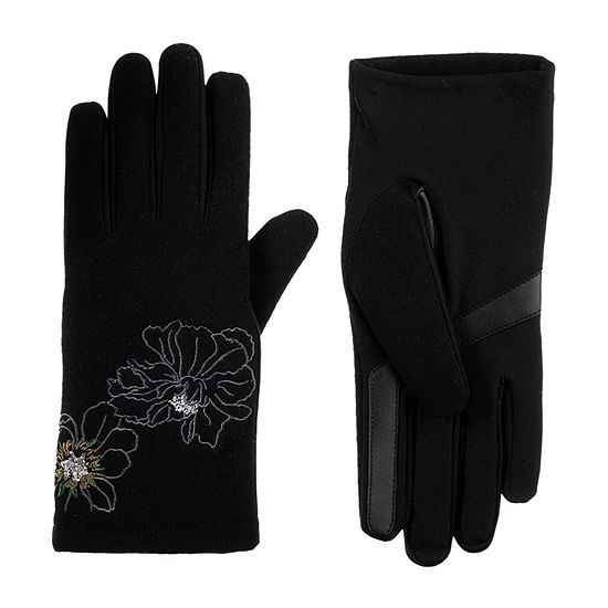 Isotoner Embroidered Cold Weather Gloves