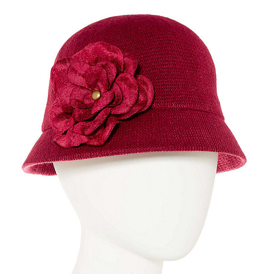 August Hat Co. Inc. Velvet Flower Cloche Hat