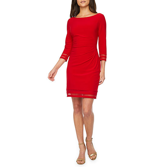 Jessica Howard 3/4 Sleeve Sheath Dress