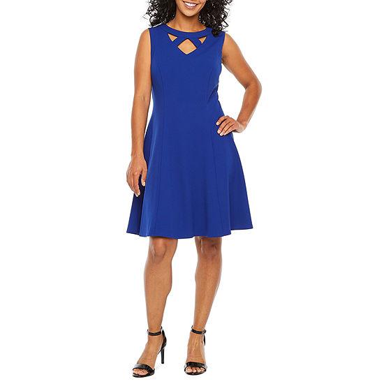 Alyx-Petite Sleeveless Fit & Flare Dress