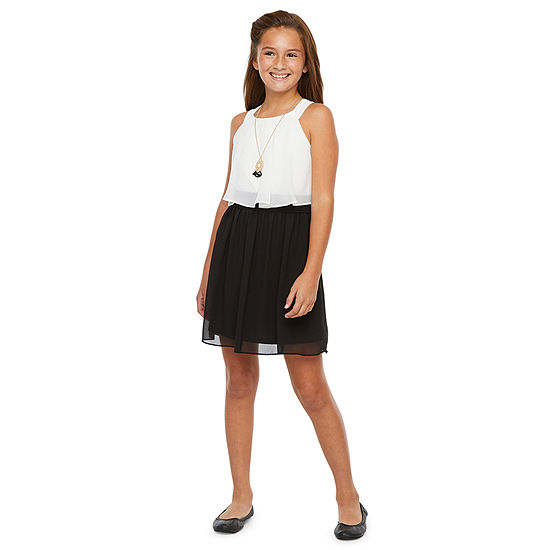 by&by girl Big Girls Sleeveless Skater Dress