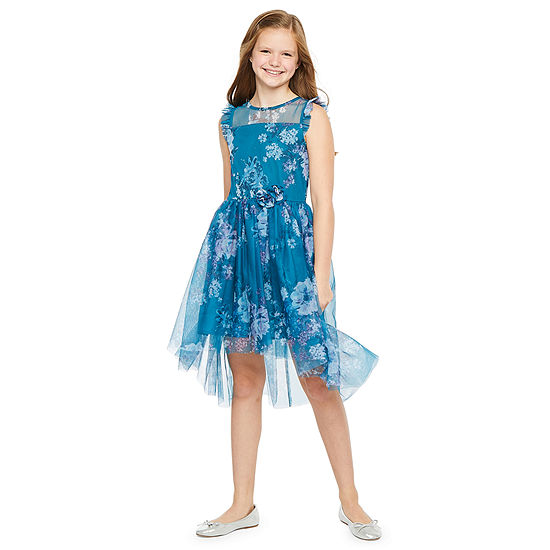 Lilt Little & Big Girls Sleeveless Floral A-Line Dress