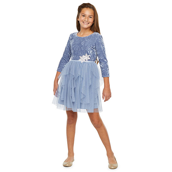 Lilt Girls 3/4 Sleeve Fitted Sleeve Party Dress