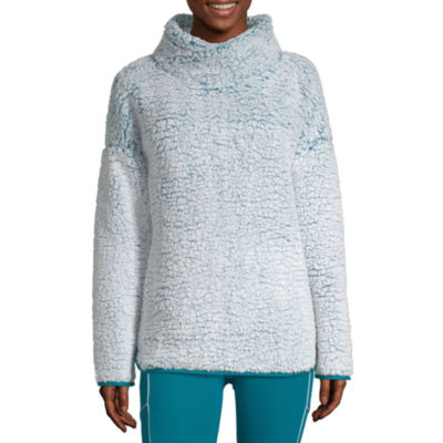 Xersion Womens Mock Neck Long Sleeve Sweatshirt
