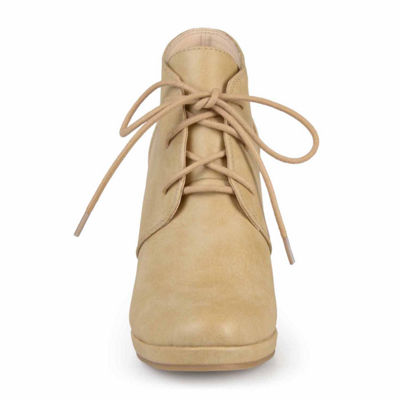 Journee Collection Womens Shooties Lace-up Round Toe