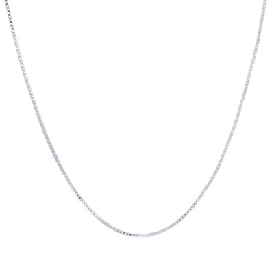 Silver Reflections Semisolid Box Chain Necklace