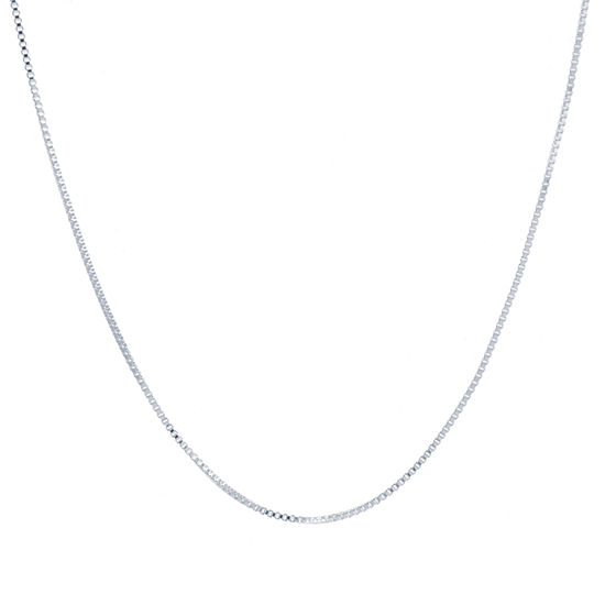 Silver Reflections Pure Silver Over Brass Box Chain Necklace