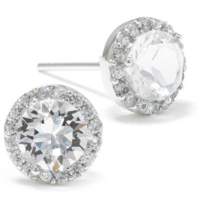 Silver Treasures 8.7mm Circle Stud Earrings