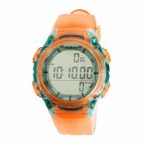 Rbx Unisex Orange Strap Watch-Rbxpd001or-Cl