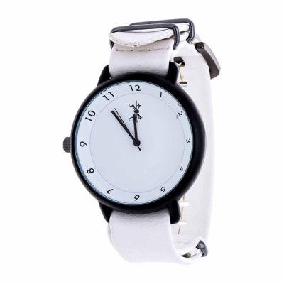 Brooklyn Exchange Mens White Strap Watch-Nwl378875bk-Wt