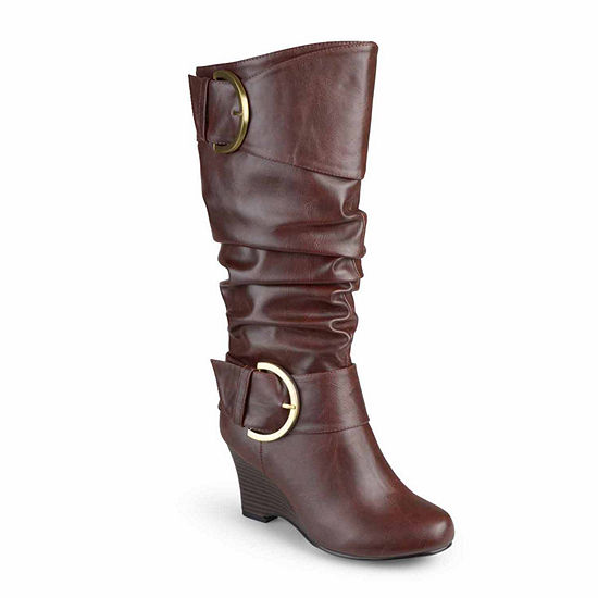 Journee Collection Womens Meme Extra Wide Calf Slouch Boots