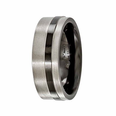 Edward Mirell Mens 8 Mm Titanium Band