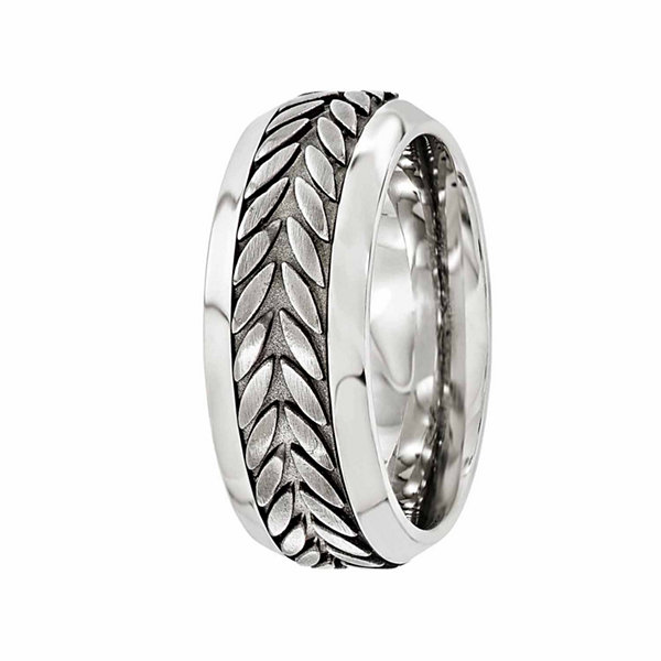 Edward Mirell Mens Stainless Steel Titanium Wedding Band