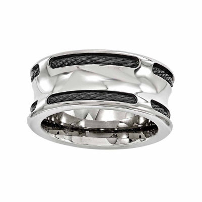 Edward Mirell Mens 10 Mm Stainless Steel Titanium Wedding Band