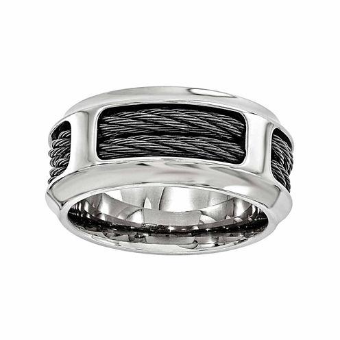 Edward Mirell Mens Stainless Steel Titanium Wedding Band