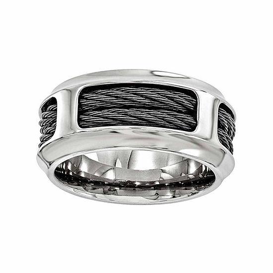 Edward Mirell Mens 10.5 Mm Stainless Steel Titanium Wedding Band