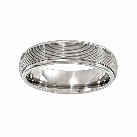 Edward Mirell Mens 6 Mm Titanium Wedding Band