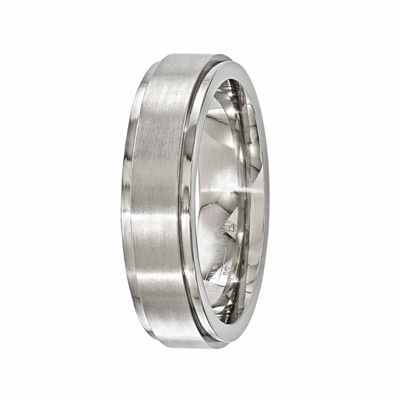 Edward Mirell Mens 6 Mm Titanium Band