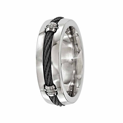 Edward Mirell Mens 7 Mm Titanium Band