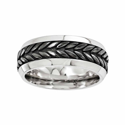 Edward Mirell Mens 9 Mm Stainless Steel Titanium Wedding Band