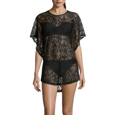 Porto Cruz® Flutter-Sleeve Crochet Tunic