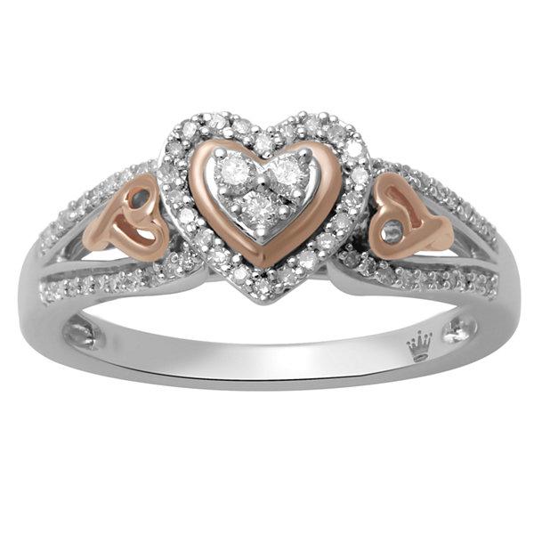 Hallmark Diamonds Womens 1 4 CT T W White Diamond Sterling