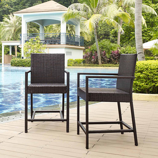 Crosley Palm Harbor Wicker 2-pc. Bistro Set